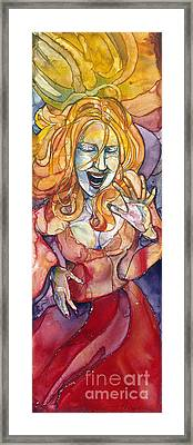 Singing Lady Pop Framed Print