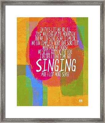 Framed Print featuring the painting Singing by Lisa Weedn