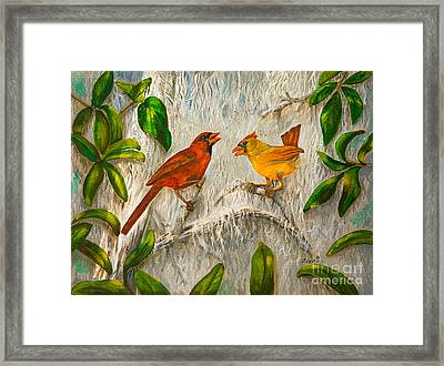 Singing Of Love Framed Print by Zina Stromberg