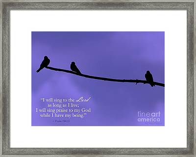 Singing Praise Framed Print