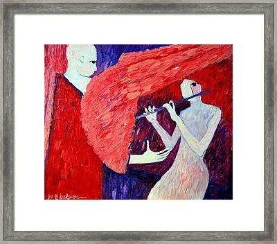 Singing To My Angel 1 Framed Print by Ana Maria Edulescu