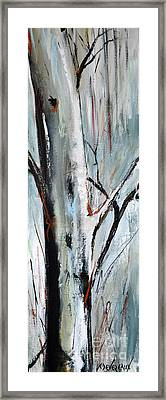 Framed Print featuring the painting Single Aspen by Cher Devereaux