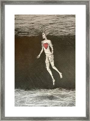 Single Heart Framed Print by Leandria Goodman