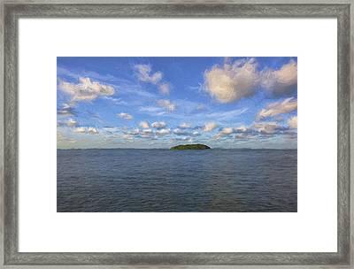 Single Island II Framed Print