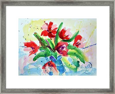 Single Minded Flowers Framed Print