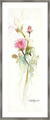 Framed Print featuring the painting Single Stem by Sandra Strohschein