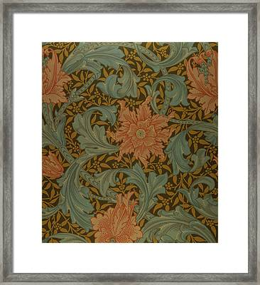 'single Stem' Wallpaper Design Framed Print by William Morris