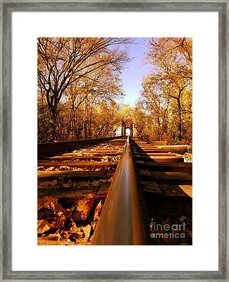 Single Track Mind  Framed Print by Scott D Van Osdol