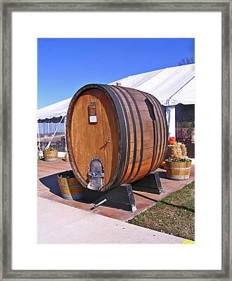 Single Wine Barrel Framed Print by Marian Bell