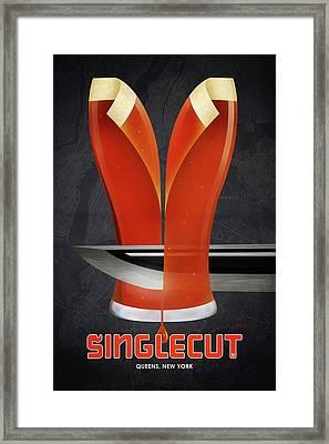Singlecut Poster Framed Print
