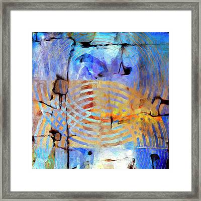 Framed Print featuring the painting Singularity by Dominic Piperata