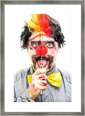 Sinister Clown Framed Print by Jorgo Photography - Wall Art Gallery