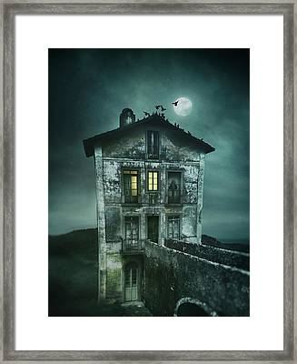 Sinister Old House Framed Print by Carlos Caetano