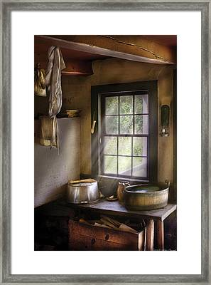 Sink - Please Wash Your Hands Framed Print by Mike Savad