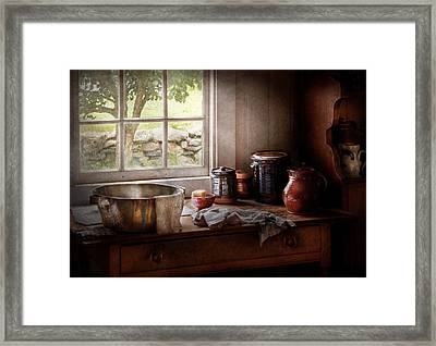 Sink - The Morning Chores Framed Print