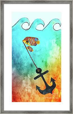 Sink Or Swim By Kaye Menner Framed Print