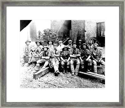 Sinkers,rossington Colliery,1915 Framed Print