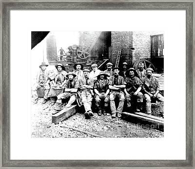 Sinkers,rossington Colliery,1915 Framed Print