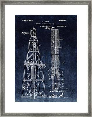Sinking Oil Well Patent Framed Print
