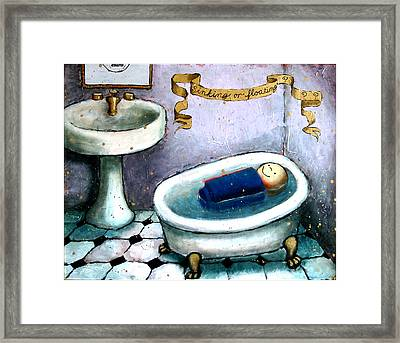 Sinking Or Floating Framed Print by Pauline Lim