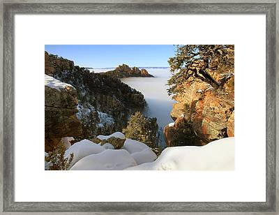 Sinking Ship Inversion Framed Print by Mike Buchheit