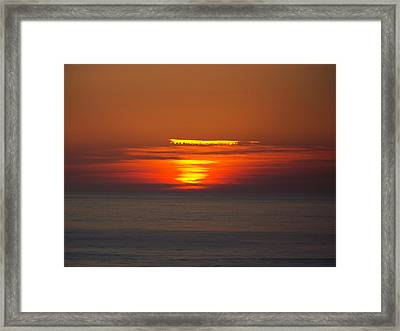 Sinking Sun Framed Print by Angi Parks
