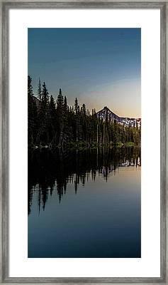Sinopah Sunrise Triptych 1 Framed Print by Bryan Moore