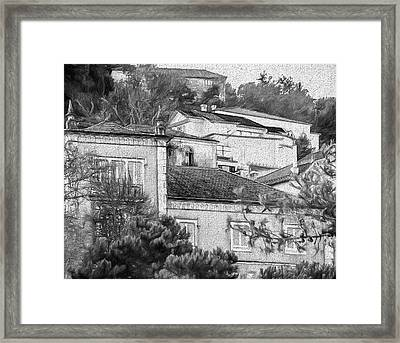 Framed Print featuring the photograph Sintra In Black And White by Julie Palencia