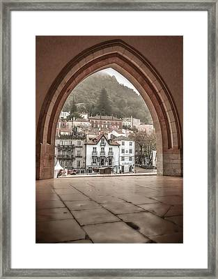 Sintra Through The Arch Framed Print by Julie Palencia