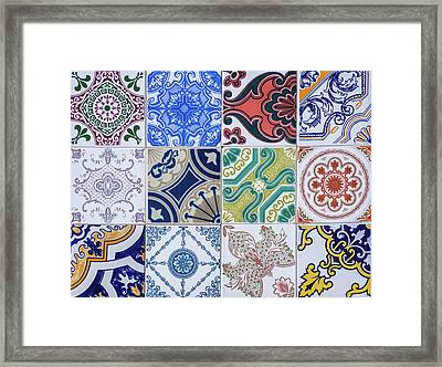 Framed Print featuring the photograph Sintra Tiles by Carlos Caetano