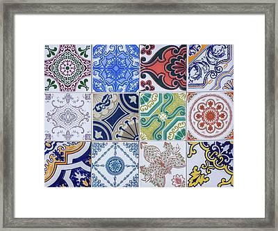 Sintra Tiles Framed Print