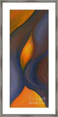 Framed Print featuring the painting Sinuous Curves by Fanny Diaz