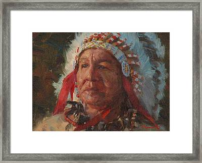 Sioux Chief Framed Print by Jim Clements