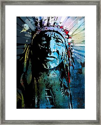 Sioux Chief Framed Print by Paul Sachtleben