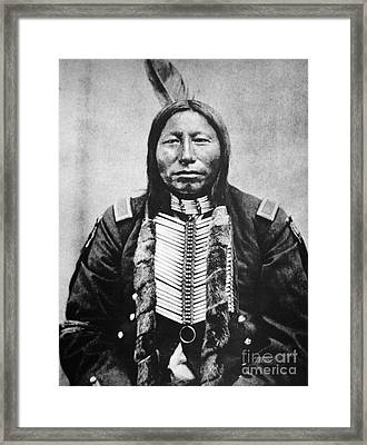 Sioux: Crow King Framed Print by Granger