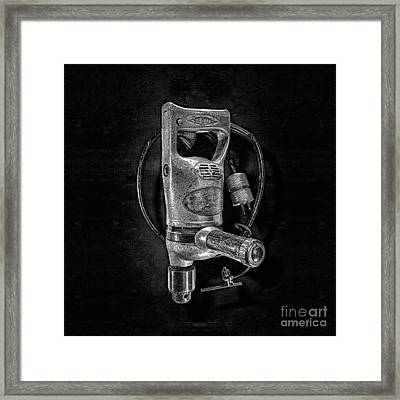 Sioux Drill Motor 1/2 Inch Bw Framed Print