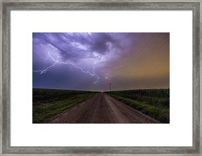 Sioux Falls Lightning Framed Print