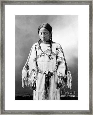 Sioux Girl, C1900 Framed Print by Granger