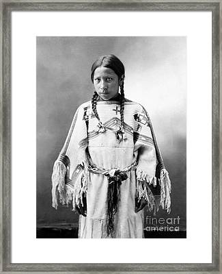 Sioux Girl, C1900 Framed Print
