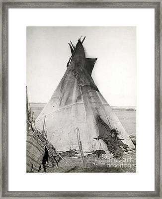 Sioux Tipi, 1891 Framed Print