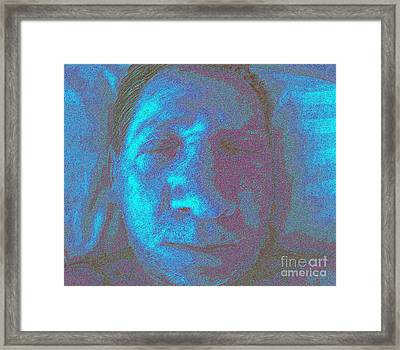 Native American Death Mask Framed Print by Rick Maxwell