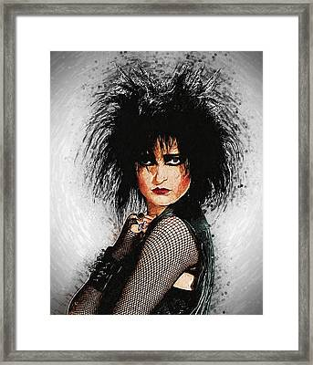 Siouxsie Sioux Framed Print by Taylan Apukovska