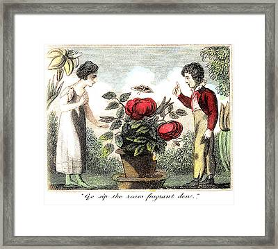 Sip The Roses Fragrant Dew Framed Print by Unknown