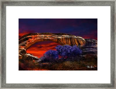 Sipapu Bridge - Utah Framed Print by Russ Harris