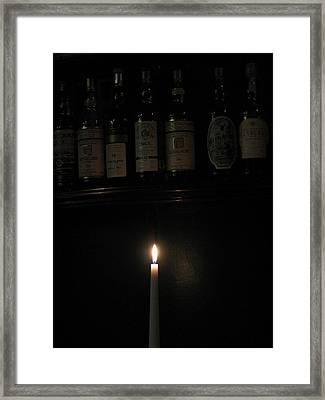 Sipping By Candlelight Framed Print by Staci-Jill Burnley