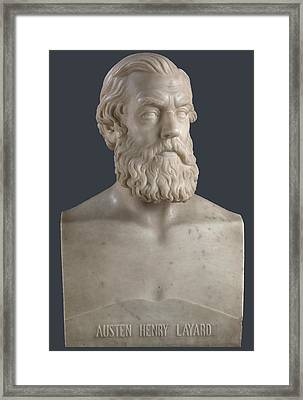 Sir Austen Henry Layard Framed Print by John Warrington Wood