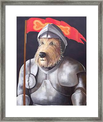 Sir Barksalot Framed Print by Diane Daigle