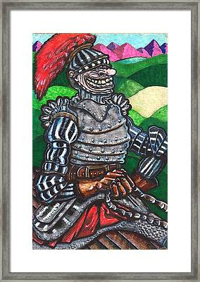 Sir Bols The Black Knight Framed Print by Al Goldfarb