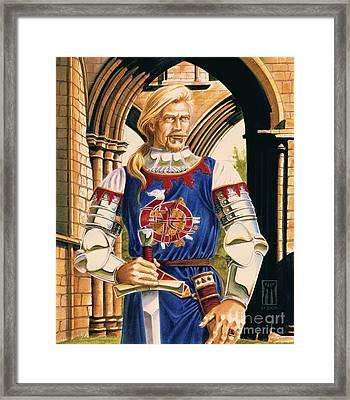 Sir Dinadan Framed Print by Melissa A Benson