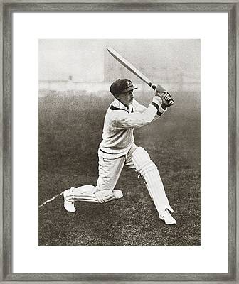 Sir Donald George Bradman, 1908 Framed Print